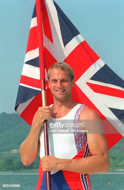 Olympic rower and Britain's Olympic team flag bearer Steve Redgrave at the training camp for the Barcelona Olympics 22/9/00 At 38 Redgrave prepares...