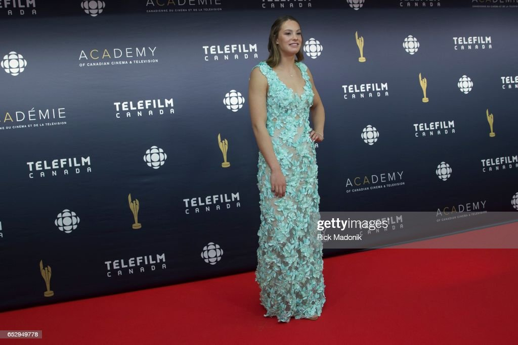 Olympic sensation Penny Oleksiak. Canadian Screen Awards red carpet at Sony Centre for the Performing Arts ahead of the show.