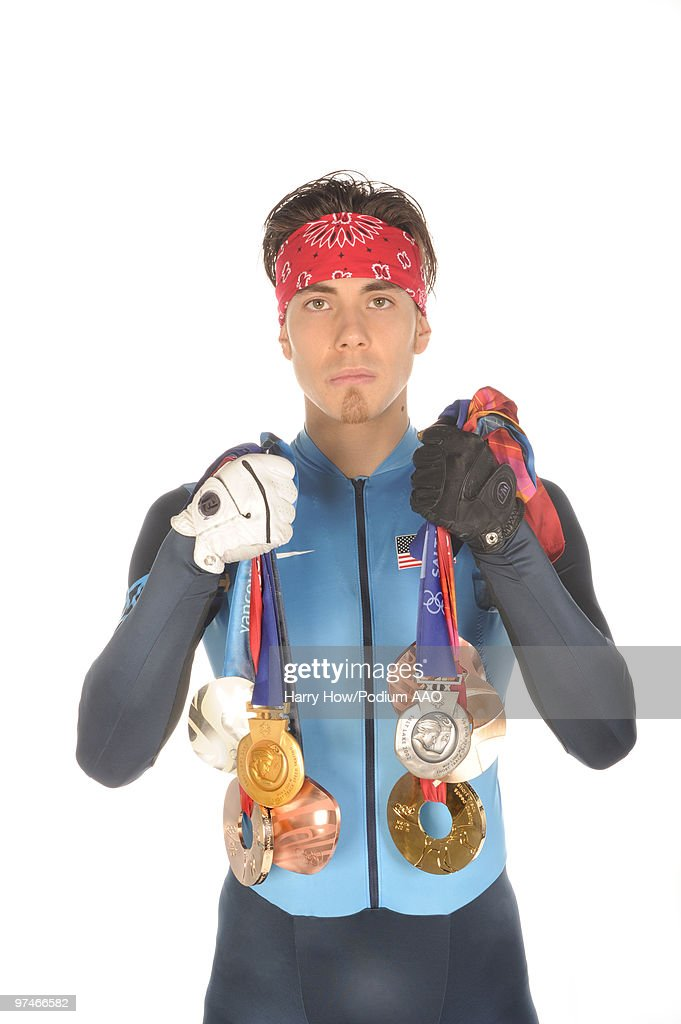Apolo Anton Ohno And His 8 Olympic Medals : News Photo