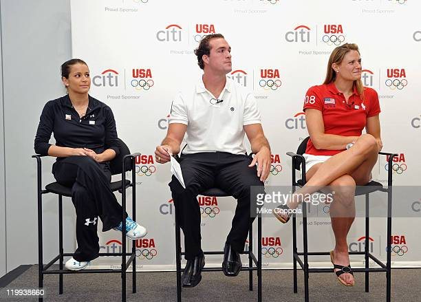 Olympic silver medalist Alicia Sacramone Paralympic gold medalist Jeremy Campbell and Olympic gold medalist Susan Francia attend the Citi Team USA...