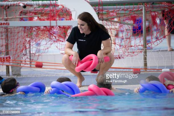 Olympic Silver Medalist Swimmer Jazz Carlin announces her retirement from competitive swimming at The Wales National Pool on February 26 2019 in...