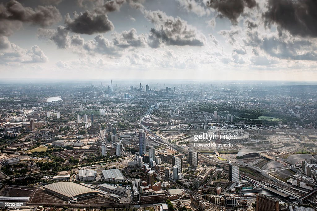 Olympic site and city views : Stock Photo