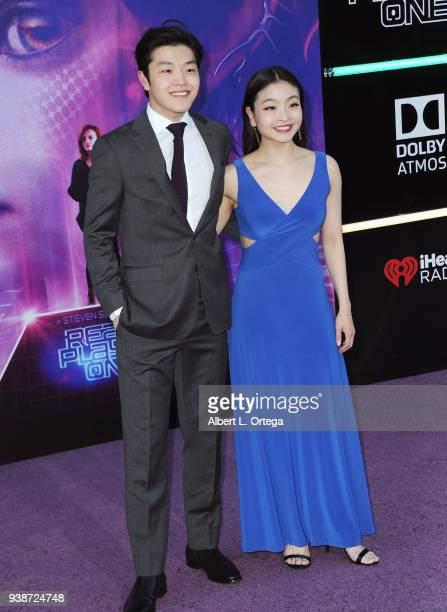 Olympic skaters Alex Shibutani and Maia Shibutani arrive for the Premiere Of Warner Bros Pictures' 'Ready Player One' held at Dolby Theatre on March...