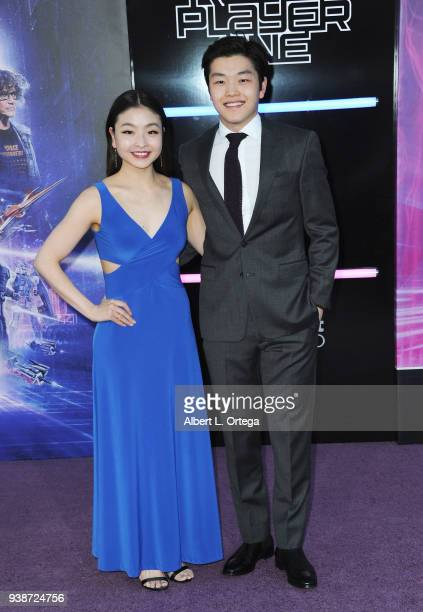 Olympic Skaters Maia Shibutani and Alex Shibutani arrive for the Premiere Of Warner Bros Pictures' 'Ready Player One' held at Dolby Theatre on March...