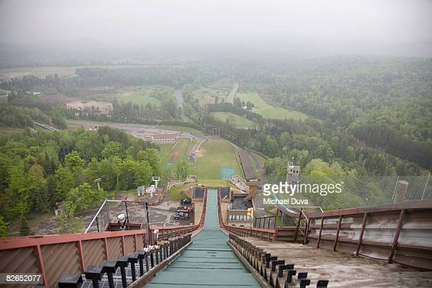 olympic ski jump of lake placid 1980 winter games - lake placid stock pictures, royalty-free photos & images