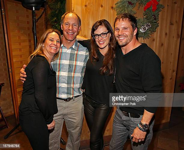 Olympic Ski team member Heidi Voelker, Olympic Gold Medalist Tommy Moe, actor Dylan Bruno and Emmeli Bruno attend the Deer Valley Celebrity Skifest...