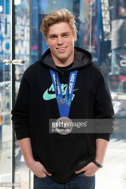 S Olympic skier Gus Kenworthy visits 'Extra' at their HM Studio in Times Square on February 24 2014 in New York City