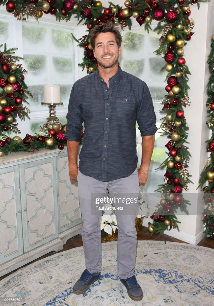Olympic skier Jonny Moseley visits Hallmark's 'Home & Family' celebrating 'Christmas In July' at Universal Studios Hollywood on July 11, 2018 in Universal City, California.