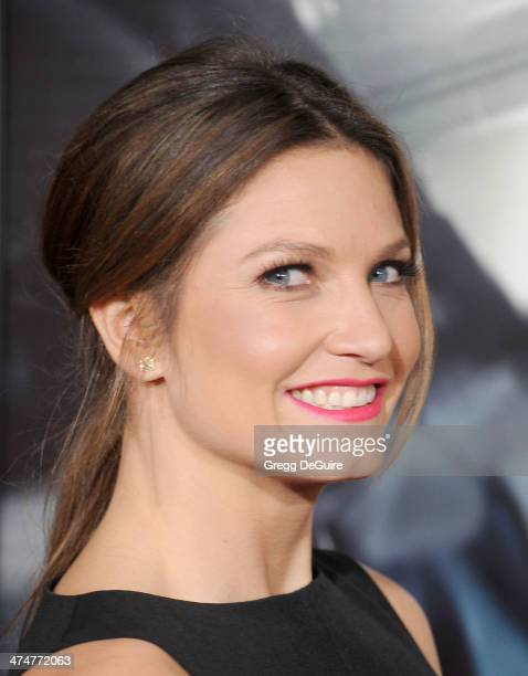 Olympic skier Julia Mancuso arrives at the Los Angeles premiere of NonStop at Regency Village Theatre on February 24 2014 in Westwood California