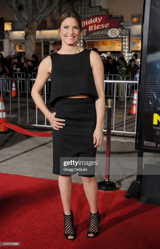 US Olympic skier Julia Mancuso arrives at the Los Angeles premiere of 'Non-Stop' at Regency Village Theatre on February 24, 2014 in Westwood, California.