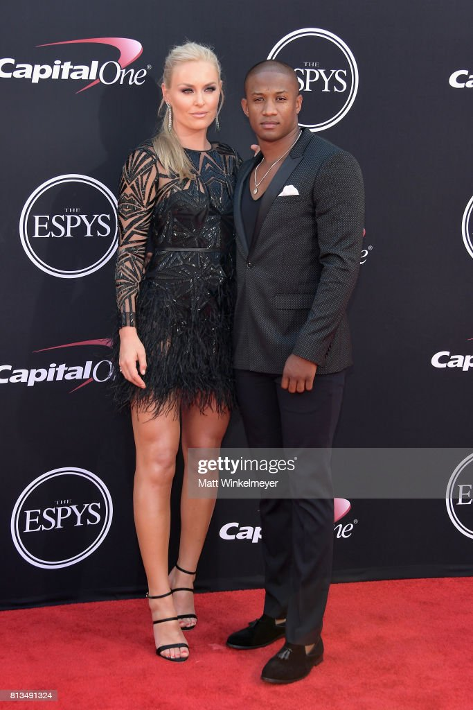 Olympic skier Lindsey Vonn (L) and NFL coach Kenan Smith attend The 2017 ESPYS at Microsoft Theater on July 12, 2017 in Los Angeles, California.