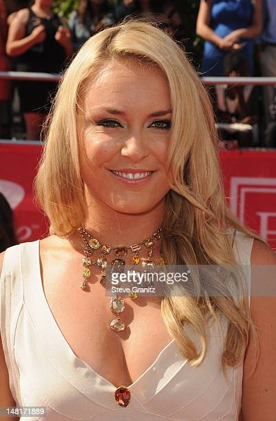 Olympic Skier Lindsey Vonn arrives at the 2012 ESPY Awards at Nokia Theatre L.A. Live on July 11, 2012 in Los Angeles, California.