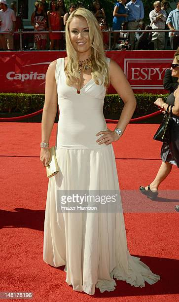 Olympic Skier Lindsey Vonn arrives at the 2012 ESPY Awards at Nokia Theatre LA Live on July 11 2012 in Los Angeles California