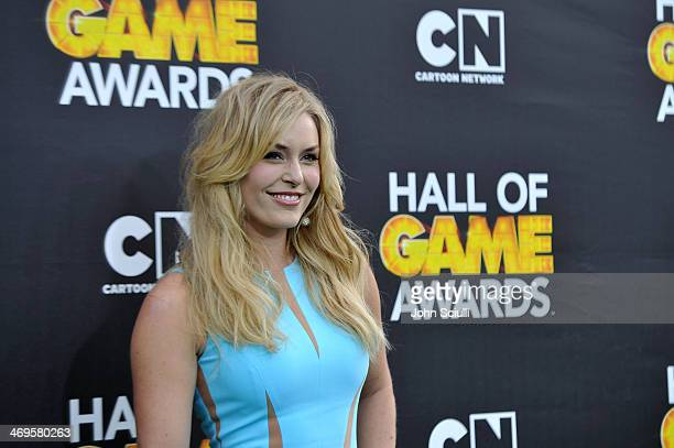 Olympic skier Lindsey Vonn attends Cartoon Network's fourth annual Hall of Game Awards at Barker Hangar on February 15 2014 in Santa Monica California