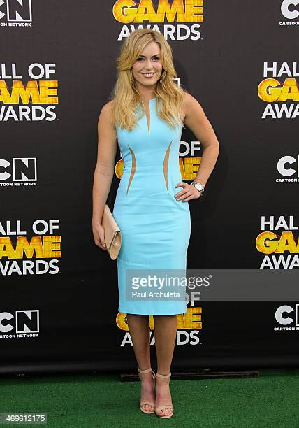 Olympic Skier Lindsey Vonn attends the Cartoon Network's Hall Of Game Awards at Barker Hangar on February 15 2014 in Santa Monica California
