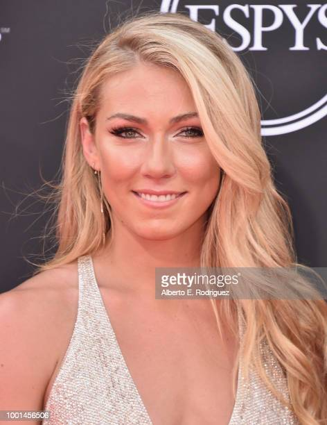 Olympic skier Mikaela Shiffrin attends The 2018 ESPYS at Microsoft Theater on July 18 2018 in Los Angeles California