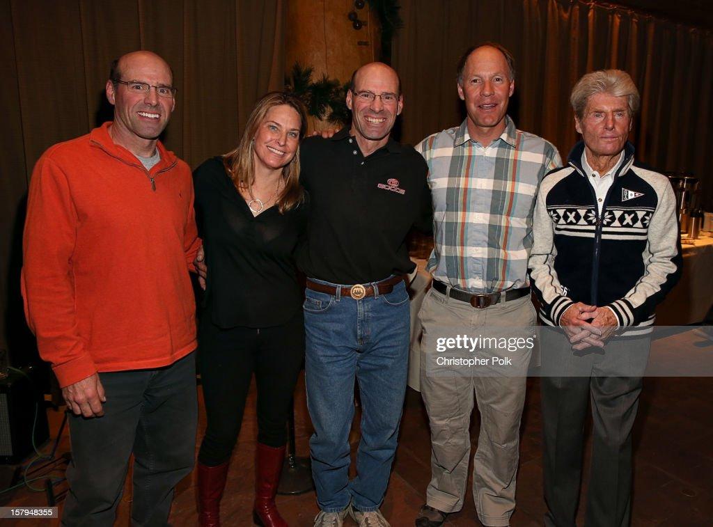 Olympic Skiers Phil Mahre, Heidi Voelker, Steve Mahre, Tommy Moe and Stein Eriksen attend the Deer Valley Celebrity Skifest at Deer Valley Resort on December 7, 2012 in Park City, Utah.