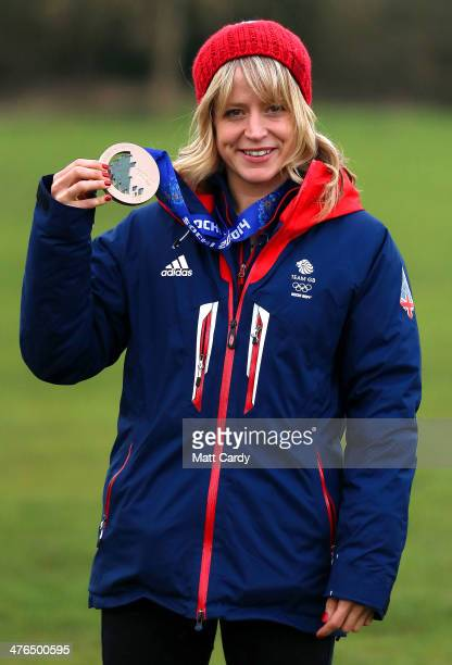 Olympic Snowboarder Jenny Jones poses for a photograph prior to her taking a bus tour of her home city to celebrate her success in the Sochi Winter...