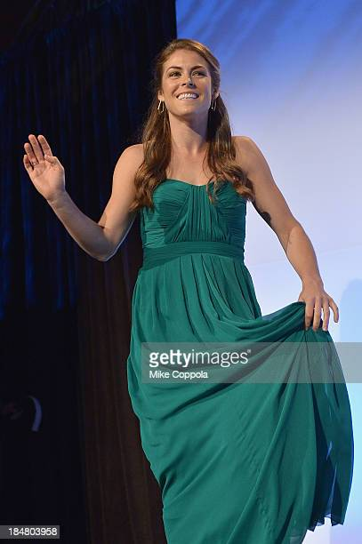 Olympic soccer gold medalist Kelley O'Hara onstage during the 34th annual Salute to Women In Sports Awards at Cipriani Wall Street on October 16 2013...