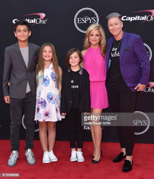Olympic soccer player Abby Wambach and family arrive at the 2017 ESPYS at Microsoft Theater on July 12 2017 in Los Angeles California