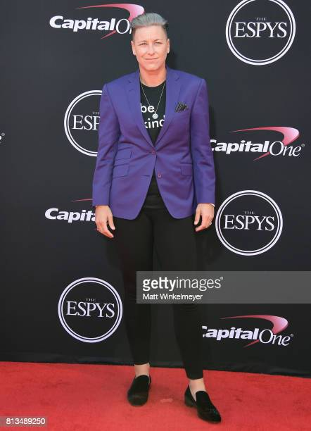 Olympic soccer player Abby Wambach attends The 2017 ESPYS at Microsoft Theater on July 12 2017 in Los Angeles California