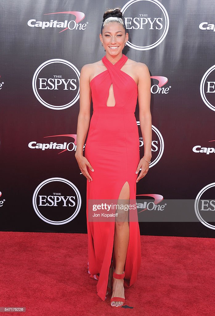 Olympic soccer player Christen Press arrives at The 2016 ESPYS at Microsoft Theater on July 13, 2016 in Los Angeles, California.