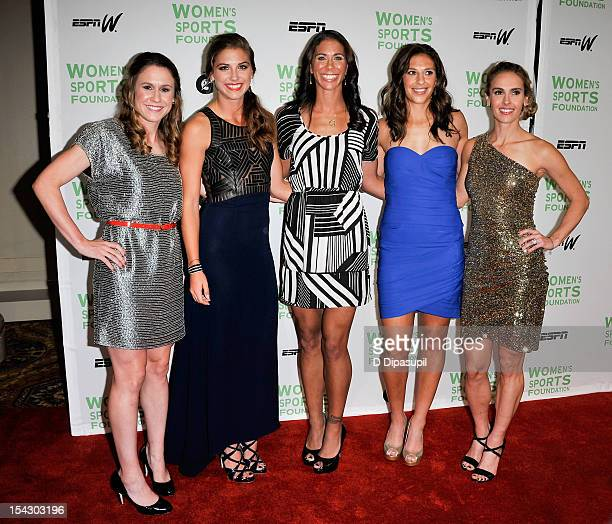 Olympic soccer players Heather O'Reilly Alexandra 'Alex' Morgan Shannon Boxx Carli Lloyd and Heather Mitts attend the 33rd annual Salute To Women In...