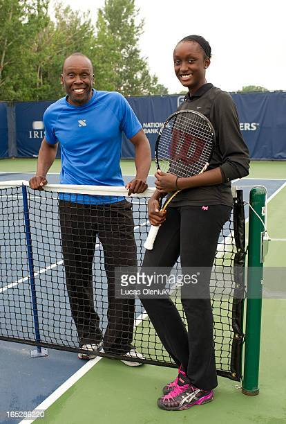 Olympic sprint gold medalist Bruny Surin is in Toronto to cheer on his daughter Kimberly Ann who is competing in the Rogers Cup prequalification...