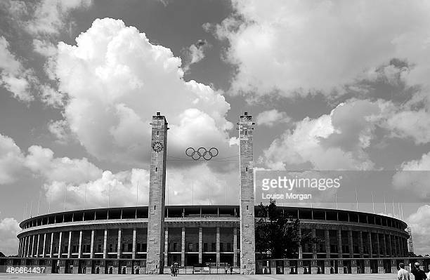 olympic stadion, berlin - olympic stadium stock pictures, royalty-free photos & images