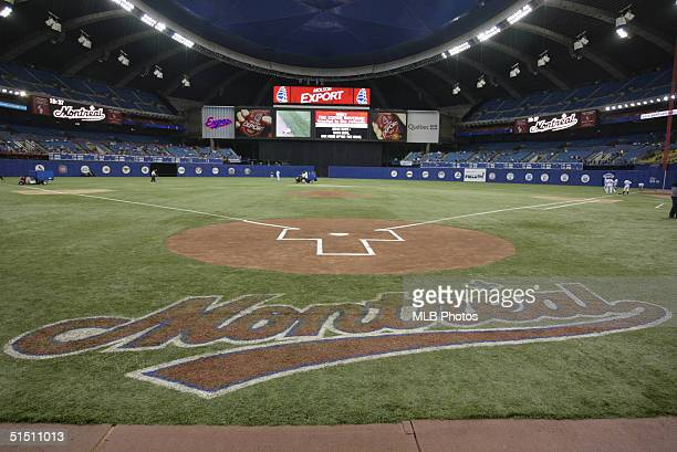 Olympic Stadium before the final Expos home game ever on September 29 2004 in Montreal Quebec Canada The Florida Marlins defeated the Expos 91