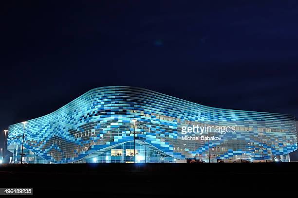 """Olympic Stadium """"Iceberg"""" in the coastal cluster, one of the venues for the 2014 Winter Olympics in Sochi, Russia."""