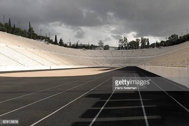 olympic stadium, in athens - olympic stadium stock pictures, royalty-free photos & images