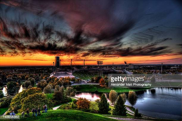 olympic stadium munich - olympiastadion munich stock pictures, royalty-free photos & images