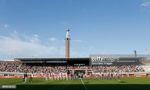 Olympic Stadium of Amsterdam during the Club Friendly match between Ajax v Anderlecht at the Olympisch Stadion on July 13, 2018 in Amsterdam...