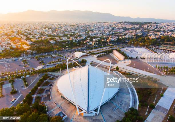 olympic stadium of athens - olympic stadium stock pictures, royalty-free photos & images
