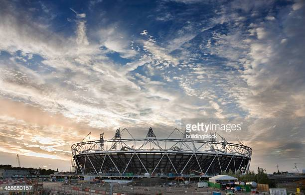 Olympic Stadium under Construction in London, England