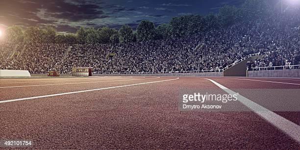 Stade olympique avec des pistes de course