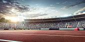 Olympic stadium with running tracks