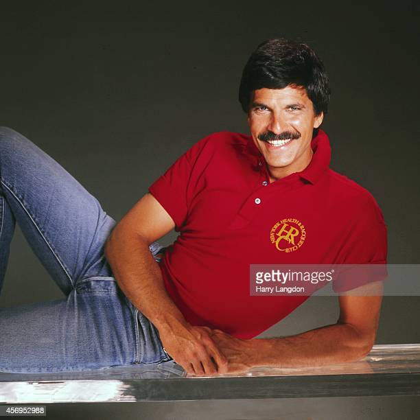 Olympic Star Mark Spitz poses for a portrait in 1986 in Los Angeles California