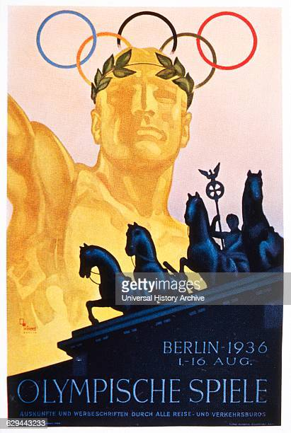 Olympic Summer Games Berlin Germany Poster 1936