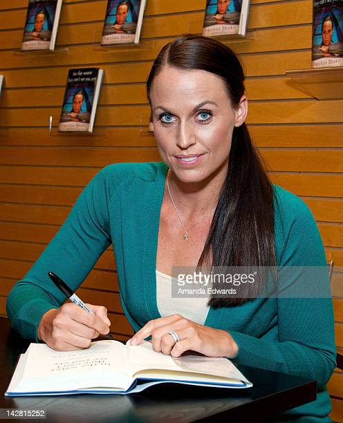 Olympic swimmer Amanda Beard signs copies of her new book In The Water They Can't See You Cry at Barnes Noble 3rd Street Promenade on April 12 2012...