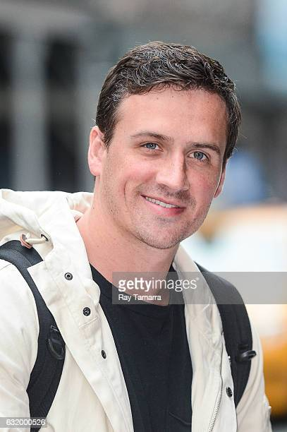 Olympic swimmer and television personality Ryan Lochte leaves his Tribeca hotel on January 18 2017 in New York City
