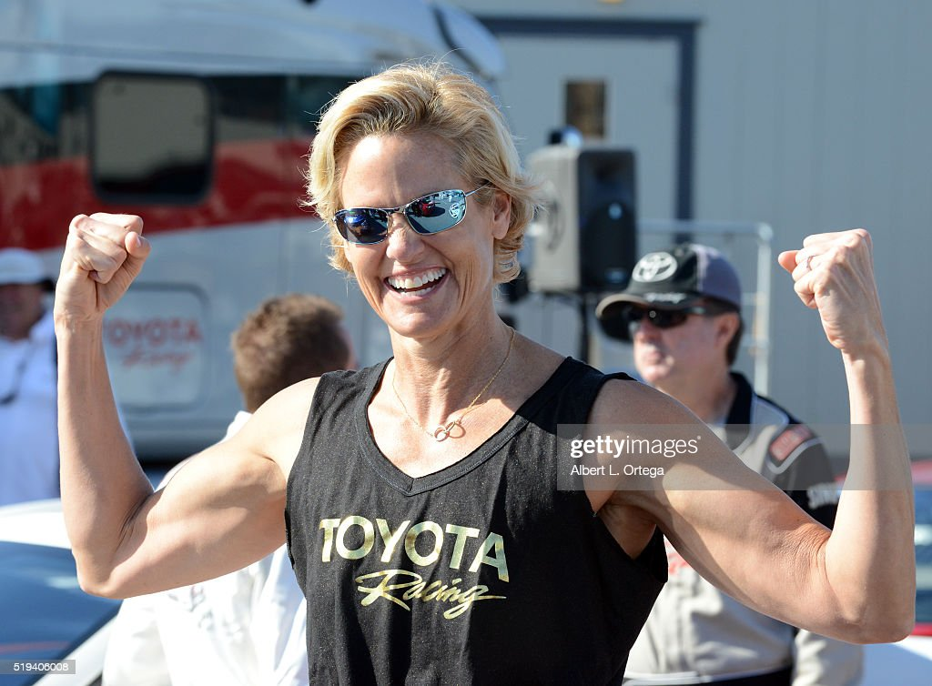 Olympic Swimmer Dara Torres at the 42nd Toyota Grand Prix Of Long Beach - Press Day on April 5, 2016 in Long Beach, California.