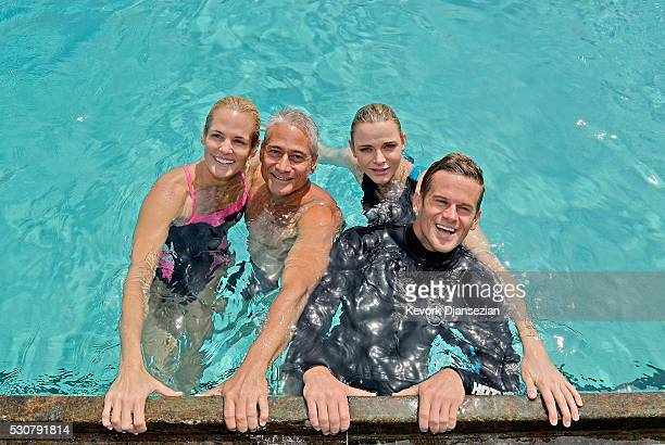 US Olympic Swimmer Dara Torres US Olympic Diver Greg Louganis Founder Princess Charlene of Monaco Foundation Princess Charlene of Monaco and US...