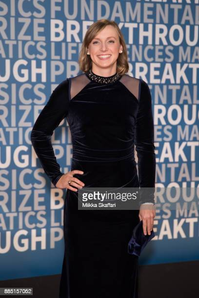 Olympic swimmer Katie Ledecky arrives at the 2018 Breakthrough Prize at NASA Ames Research Center on December 3 2017 in Mountain View California
