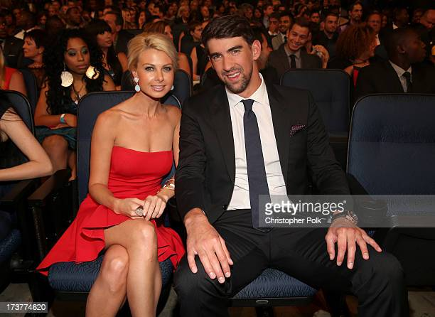 Olympic swimmer Michael Phelps and Golf Channel reporter Win McMurry attend The 2013 ESPY Awards at Nokia Theatre LA Live on July 17 2013 in Los...