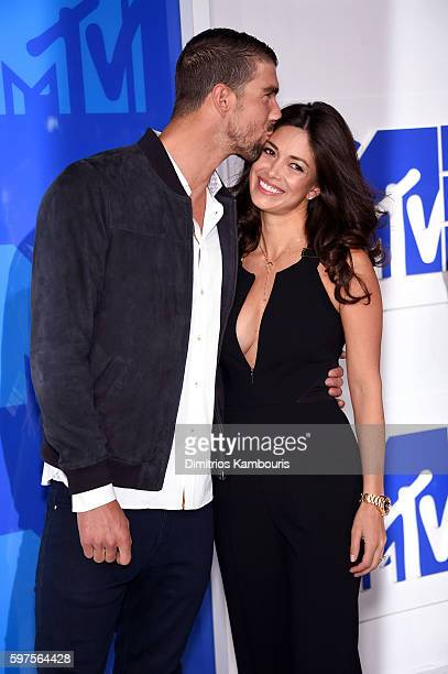 Olympic swimmer Michael Phelps and Nicole Johnson attend the 2016 MTV Video Music Awards at Madison Square Garden on August 28 2016 in New York City