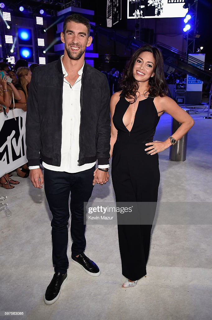 Olympic swimmer Michael Phelps and Nicole Johnson attends the 2016 MTV Video Music Awards at Madison Square Garden on August 28, 2016 in New York City.