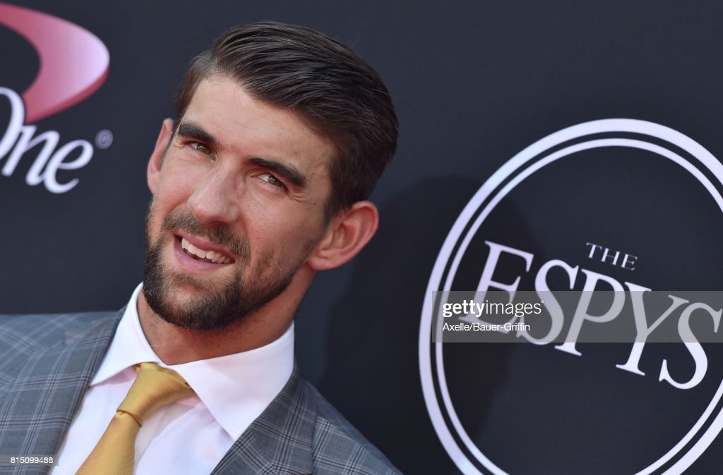 Olympic swimmer Michael Phelps arrives at the 2017 ESPYS at Microsoft Theater on July 12, 2017 in Los Angeles, California.