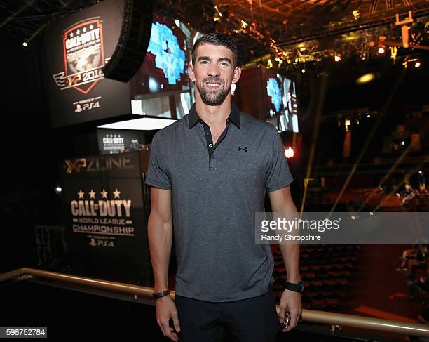 Olympic swimmer Michael Phelps attends The Ultimate Fan Experience Call Of Duty XP 2016 presented by Activision at The Forum on September 2 2016 in...